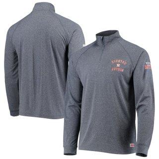 ヒューストン・アストロズ Stitches Team Quarter-Zip Raglan Pullover ジャケット - Heathered Navy