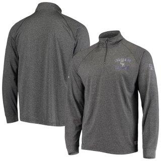 コロラド・ロッキーズ Stitches Team Quarter-Zip Raglan Pullover ジャケット - Heathered Black