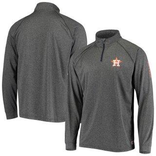 ヒューストン・アストロズ Stitches Two-Hit Quarter-Zip Raglan Pullover ジャケット - Heathered Gray