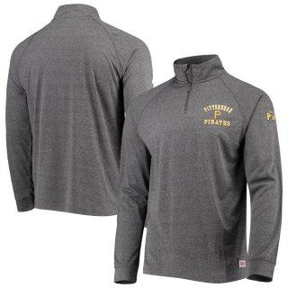 ピッツバーグ・パイレーツ Stitches Team Quarter-Zip Raglan Pullover ジャケット - Heathered Black