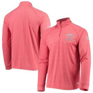 ワシントン・ナショナルズ Stitches Team Quarter-Zip Raglan Pullover ジャケット - Heathered Red