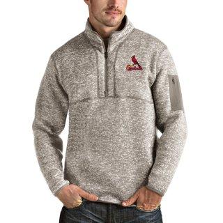 セントルイス・カージナルス Antigua Fortune Quarter-Zip Pullover ジャケット - Oatmeal