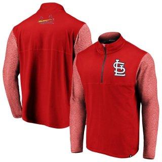 セントルイス・カージナルス Fanatics Branded Big & Tall Synthetic Made to Move 1/4-Zip ジャケット - Red