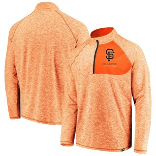 サンフランシスコ・ジャイアンツ Fanatics Branded Made 2 Move Quarter-Zip ジャケット - Orange