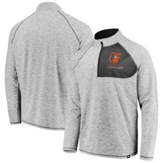 ボルチモア・オリオールズ Fanatics Branded Made 2 Move Quarter-Zip ジャケット - Gray
