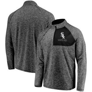 シカゴ・ホワイトソックス Fanatics Branded Made 2 Move Quarter-Zip ジャケット - Gray