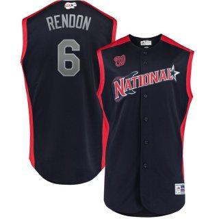 アンソニー・レンドン National League Majestic 2019 MLB All-Star Game Workout Player ユニフォーム - Navy