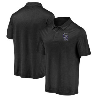 コロラド・ロッキーズ Fanatics Branded Iconic Striated Primary Logo ポロシャツ - Black