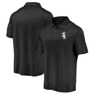 シカゴ・ホワイトソックス Fanatics Branded Iconic Striated Primary Logo ポロシャツ - Black