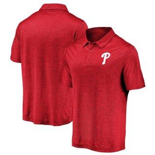 フィラデルフィア・フィリーズ Fanatics Branded Iconic Striated Primary Logo ポロシャツ - Red