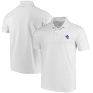 ロサンゼルス・ドジャース CBUK by Cutter & Buck DryTec Fairwood ポロシャツ - White