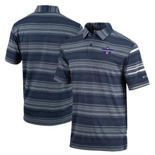 ワシントン・ナショナルズ Columbia 2019 World Series Champions Striped ポロシャツ - Navy