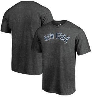 ニューヨーク・ヤンキース Fanatics Branded Official Wordmark T-シャツ - Heather Charcoal