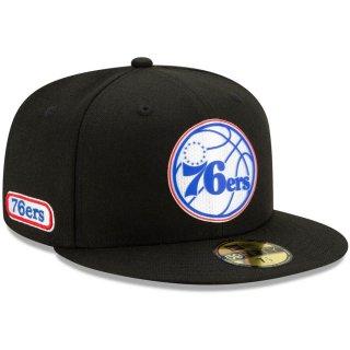 フィラデルフィア・76ers New Era Official Back Half 59FIFTY Fitted キャップ - Black