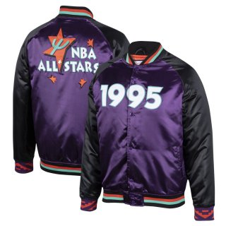 ミッチェルアンドネス 1995 NBA All-Star Game Satin Full-Snap ジャケット - Purple