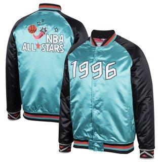 ミッチェルアンドネス 1996 NBA All-Star Game Satin Full-Snap ジャケット - Teal