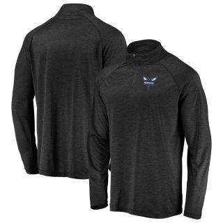 シャーロット・ホーネッツ Fanatics Branded Iconic Striated Raglan Quarter-Zip Pullover ジャケット - Black