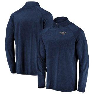 ニューオーリンズ・ペリカンズ Fanatics Branded Iconic Striated Raglan Quarter-Zip Pullover ジャケット - Navy