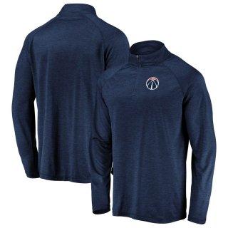 ワシントン・ウィザーズ Fanatics Branded Iconic Striated Raglan Quarter-Zip Pullover ジャケット - Navy