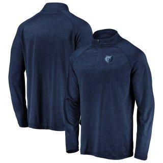 メンフィス・グリズリーズ Fanatics Branded Iconic Striated Raglan Quarter-Zip Pullover ジャケット - Navy