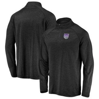 サクラメント・キングス Fanatics Branded Iconic Striated Raglan Quarter-Zip Pullover ジャケット - Black