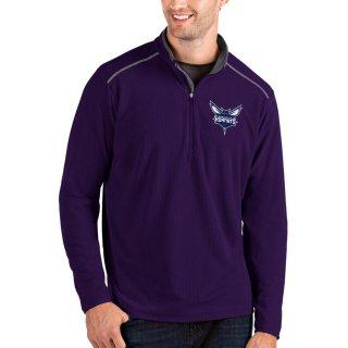 シャーロット・ホーネッツ Antigua Glacier Quarter-Zip Pullover ジャケット - Purple/Gray