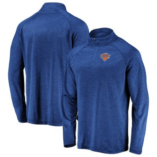 ニューヨーク・ニックス Fanatics Branded Iconic Striated Raglan Quarter-Zip Pullover ジャケット - Blue