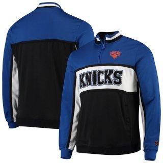 ニューヨーク・ニックス FISLL Interlock Quarter-Zip ジャケット - Blue/Black