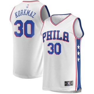 フルカン・コルクマズ フィラデルフィア・76ers Fanatics Branded Fast Break Player ユニフォーム - Association Edition - White