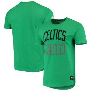 ボストン・セルティックス New Era Brushed ユニフォーム Wordmark Reflection Applique T-シャツ - Kelly Green