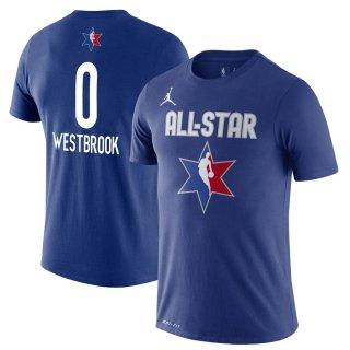 ラッセル・ウェストブルック Jordan Brand 2020 NBA All-Star Game Name & Number Player T-シャツ - Blue
