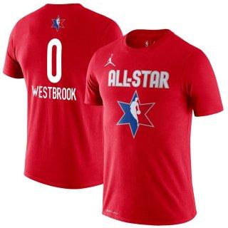 ラッセル・ウェストブルック Jordan Brand 2020 NBA All-Star Game Name & Number Player T-シャツ - Red