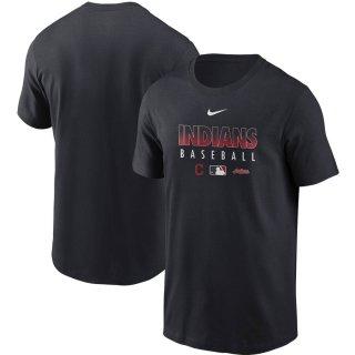 クリーブランド・インディアンス Nike Authentic Collection Team Performance T-シャツ - Navy