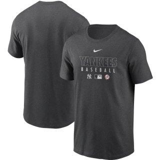 ニューヨーク・ヤンキース Nike Authentic Collection Team Performance T-シャツ - Gray