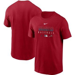 アトランタ・ブレーブス Nike Authentic Collection Team Performance T-シャツ - Red