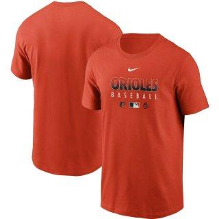 ボルチモア・オリオールズ Nike Authentic Collection Team Performance T-シャツ - Orange