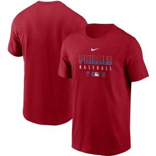 フィラデルフィア・フィリーズ Nike Authentic Collection Team Performance T-シャツ - Red
