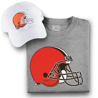 Cleveland Browns Fanatics Branded T-シャツ and キャップ Bundle - White/Gray