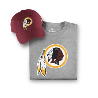 Washington Redskins NFL Pro Line by Fanatics Branded T-シャツ and キャップ Bundle - Burgundy/Gray