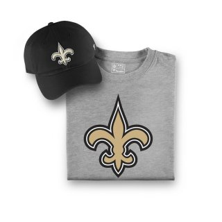 New Orleans Saints NFL Pro Line by Fanatics Branded T-シャツ and キャップ Bundle - Black/Gray