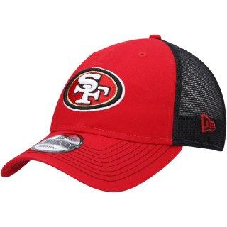 サンフランシスコ・49ers New Era Team Fronted Trucker 9TWENTY Snapback キャップ - Scarlet/Black