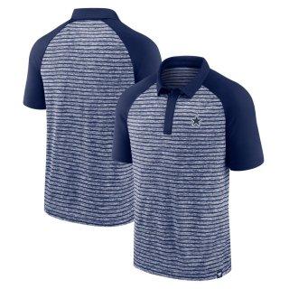 ダラス・カウボーイズ Fanatics Branded Line Up Shadow Stripe Raglan ポロシャツ - Navy