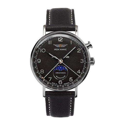 [メンズ] ドイツ発 IRON ANNIE AMAZONAS 5976-2QZ  アイアンアニー アマゾナス パイロットウォッチ ムーンフェイズ クォーツ腕時計