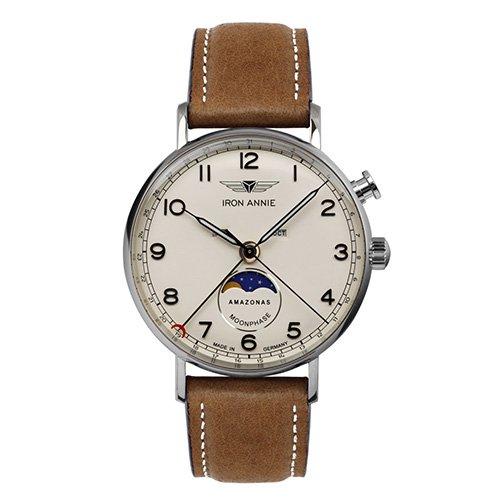 [メンズ] ドイツ発 IRON ANNIE AMAZONAS 5976-5QZ アイアンアニー アマゾナス パイロットウォッチ ムーンフェイズ クォーツ腕時計