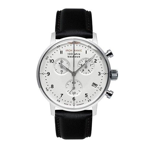 [メンズ] ドイツ発 IRON ANNIE BAUHAUS 5096-1QZ アイアンアニー バウハウス バウハウスデザイン パイロットウォッチ クロノグラフ クォーツ腕時計