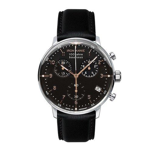 [メンズ] ドイツ発 IRON ANNIE BAUHAUS 5096-2QZ アイアンアニー バウハウス バウハウスデザイン パイロットウォッチ クロノグラフ クォーツ腕時計
