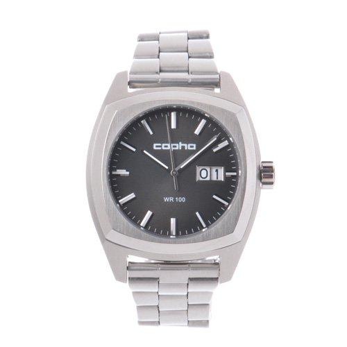 [メンズ] 北欧デンマーク COPHA XL コプハ エックスエル スチールベルト ブラックダイアル クォーツ腕時計 デイトカレンダー スクエア 日本限定