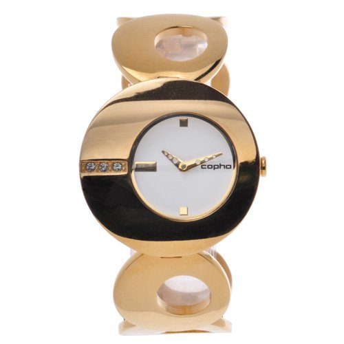 [レディース] 北欧デンマーク COPHA O コプハ オー ゴールド ホワイトダイアル ブレスレットウォッチ ラインストーン クォーツ腕時計 日本限定