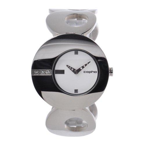 [レディース] 北欧デンマーク COPHA O コプハ オー シルバー ホワイトダイアル ブレスレットウォッチ ラインストーン クォーツ腕時計 日本限定