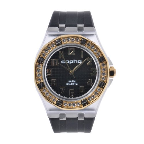<img class='new_mark_img1' src='https://img.shop-pro.jp/img/new/icons20.gif' style='border:none;display:inline;margin:0px;padding:0px;width:auto;' />COPHA LADY AP Silicone Strap Black-Gold×Black(コプハ レディエーピー シリコンストラップ ブラック-ゴールド×ブラック)